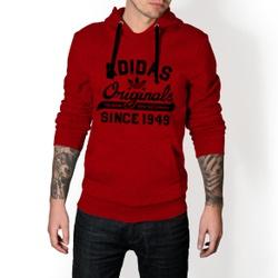 Moletom Masculino Adidas Originals - Vermelho e Pr... - Top Franca Shoes   Calçados confortáveis em Couro