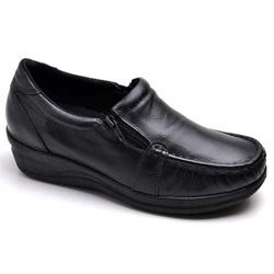 Sapato Feminino Mocassim Comfort Anatomico Enferma... - Top Franca Shoes | Calçados confortáveis em Couro