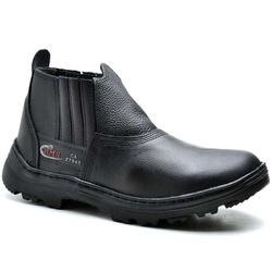 Bota Coturno Masculino Anti Chamas Segurança Preto - Top Franca Shoes | Calçados confortáveis em Couro
