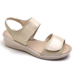 Sandália Papete de Couro Feminina Ortopédica para ... - Diconfort Calçados | Calçados confortáveis e anatômicos