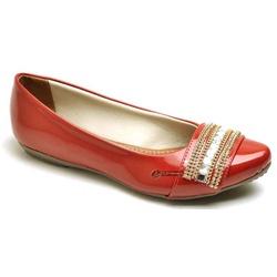 Sapatilha Feminina Confortável Com Verniz e Detalh... - Top Franca Shoes | Calçados confortáveis em Couro