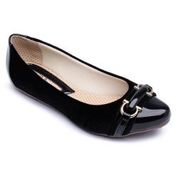 Sapatilha Feminina Confortável Com Metal e Detalhe... - Top Franca Shoes | Calçados confortáveis em Couro