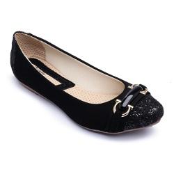Sapatilha Feminina Confortável Com Metal e Verniz - Top Franca Shoes | Calçados confortáveis em Couro