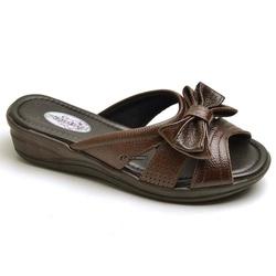 Sandália Tamanco Conforto Anatomico Ortopédica Caf... - Top Franca Shoes | Calçados confortáveis em Couro