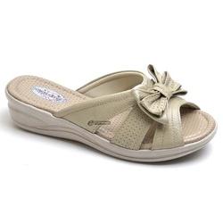 Sandália Tamanco Conforto Anatomico Ortopédica Mar... - Top Franca Shoes | Calçados confortáveis em Couro