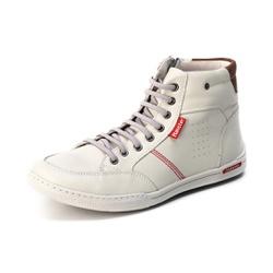 Sapatênis Cano Alto Top Franca Shoes Branco - Top Franca Shoes | Calçados confortáveis em Couro