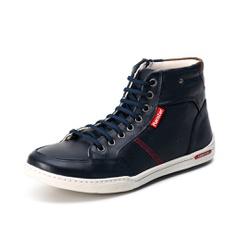 Sapatênis Cano Alto Top Franca Shoes Marinho - Top Franca Shoes   Calçados confortáveis em Couro