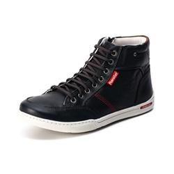 Sapatênis Cano Alto Top Franca Shoes Preto - Top Franca Shoes | Calçados confortáveis em Couro