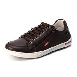 Sapatênis Casual Confort Top Franca Shoes Café - Top Franca Shoes | Calçados confortáveis em Couro