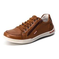 Sapatênis Casual Confort Top Franca Shoes Marrom - Top Franca Shoes | Calçados confortáveis em Couro