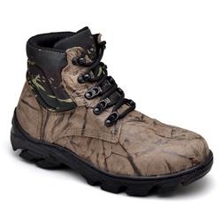 BOTA COTURNO COURO CANO CURTO CAÇA E PESCA AIR SOF... - Top Franca Shoes | Calçados confortáveis em Couro