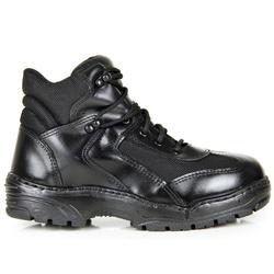BOTA COTURNO COURO MILITAR PM CANO CURTO - Top Franca Shoes | Calçados confortáveis em Couro