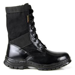 BOTA COTURNO MILITAR VALCORE COURO EXTRA LEVE PRET - Top Franca Shoes | Calçados confortáveis em Couro