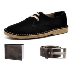 Kit Sapato Casual Retrô Top Franca Shoes Preto + C... - Top Franca Shoes | Calçados confortáveis em Couro