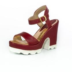 Sandália Feminina Top Franca Shoes Salto Grosso Vi... - Top Franca Shoes | Calçados confortáveis em Couro