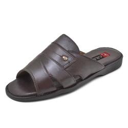 Sandália Chinelo Franciscano Top Franca Shoes Café... - Top Franca Shoes | Calçados confortáveis em Couro