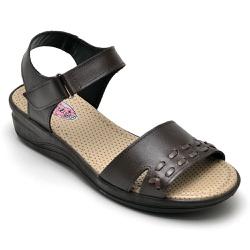 Sandália Feminina Conforto Top Franca Shoes Cafe - Top Franca Shoes | Calçados confortáveis em Couro