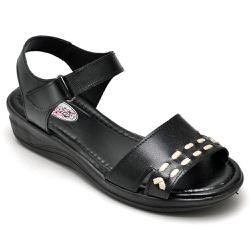 Sandália Feminina Conforto Top Franca Shoes Preto - Top Franca Shoes | Calçados confortáveis em Couro