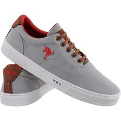 Sapatenis Masculino Polo Joy Casual Em Lona Cinza - Top Franca Shoes | Calçados confortáveis em Couro