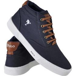 Sapatênis Cano Alto Polo Joy Azul Escuro - Top Franca Shoes | Calçados confortáveis em Couro