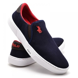 Sapatênis Masculino Slip On Polo Joy Azul Marinho - Top Franca Shoes   Calçados confortáveis em Couro