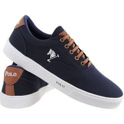 Sapatenis Masculino Polo Joy Casual Em Lona Marinh - Top Franca Shoes | Calçados confortáveis em Couro