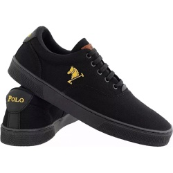 Sapatenis Masculino Polo Joy Casual Em Lona Preto - Top Franca Shoes | Calçados confortáveis em Couro