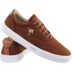 Sapatenis Masculino Polo Joy Casual Em Lona Marrom - Top Franca Shoes | Calçados confortáveis em Couro