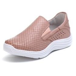 Tênis Sapatenis Slip Top Franca Shoes Rose - Top Franca Shoes | Calçados confortáveis em Couro