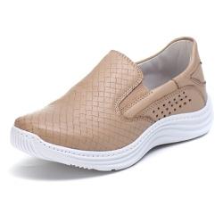 Tênis Sapatenis Slip Top Franca Shoes Areia - Top Franca Shoes | Calçados confortáveis em Couro