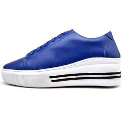 Sapatênis Casual Feminino Top Franca Shoes Azul - Top Franca Shoes | Calçados confortáveis em Couro