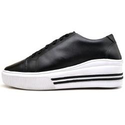 Sapatênis Casual Feminino Top Franca Shoes Preto - Top Franca Shoes | Calçados confortáveis em Couro