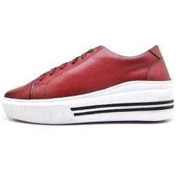 Sapatênis Casual Feminino Top Franca Shoes Vermelh... - Top Franca Shoes | Calçados confortáveis em Couro