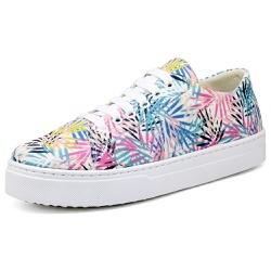 Tênis Sapatenis Top Franca Shoes Floral - Top Franca Shoes | Calçados confortáveis em Couro