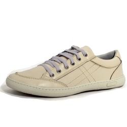Sapatênis Tênis Masculino Top Franca Shoes Bege - Top Franca Shoes | Calçados confortáveis em Couro