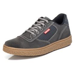 Tênis Sapatênis Casual Top Franca Shoes Grafite - Top Franca Shoes | Calçados confortáveis em Couro