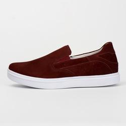 Tênis Sapatênis Slip Casual Top Franca Shoes Bordo... - Top Franca Shoes | Calçados confortáveis em Couro