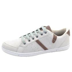 Sapatênis Tênis Masculino Top Franca Shoes Bege - Top Franca Shoes   Calçados confortáveis em Couro
