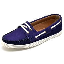 Sider Mocassim Feminino Top Franca Shoes Violeta - Top Franca Shoes   Calçados confortáveis em Couro