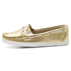 Sider Mocassim Feminino Top Franca Shoes Ouro - Top Franca Shoes | Calçados confortáveis em Couro