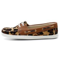 Sider Mocassim Feminino Top Franca Shoes Onça - Top Franca Shoes | Calçados confortáveis em Couro
