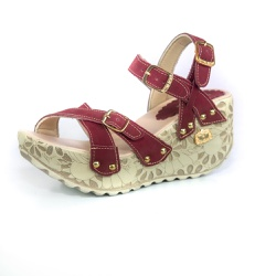 Sandália Feminina Top Franca Shoes Plataforma Anab... - Top Franca Shoes | Calçados confortáveis em Couro