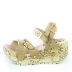 Sandália Feminina Top Franca Shoes Plataforma Anab... - Top Franca Shoes   Calçados confortáveis em Couro