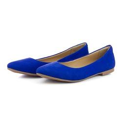 Sapatilha Feminina Bico Fino Top Franca Shoes Azul... - Top Franca Shoes | Calçados confortáveis em Couro