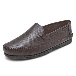 Sapatilha Mocassin Masculino Top Franca Shoes Café - Top Franca Shoes | Calçados confortáveis em Couro