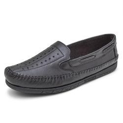 Sapatilha Mocassin Masculino Top Franca Shoes Pret - Top Franca Shoes | Calçados confortáveis em Couro