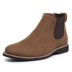 Bota Botina Chelsea Couro Sola Borracha Palmilha A... - Top Franca Shoes | Calçados confortáveis em Couro