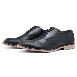 Sapato Social Brogue Top Franca Shoes Preto - Top Franca Shoes | Calçados confortáveis em Couro