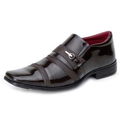 Sapato Social Verniz Top Franca Shoes Café - Top Franca Shoes | Calçados confortáveis em Couro