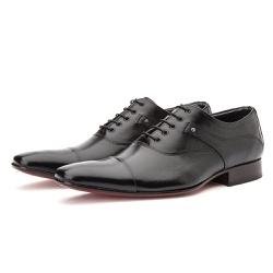 Sapato Social Masculino de Amarrar Oxford Couro Le... - Top Franca Shoes | Calçados confortáveis em Couro